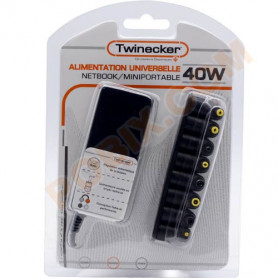 Chargeur Twinecker PC Portable 9.5-20V 40Watts NetBook ALIMTW-40WNETBOOK - 1
