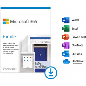 Microsoft 365 Famille 6 Personnes (ESD) Abonnement 1 an OFF365_HOME-ESD - 1