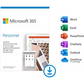 Microsoft 365 Personnel 1 Personne (ESD) Abonnement 1 an OFF365_PERS-ESD - 1
