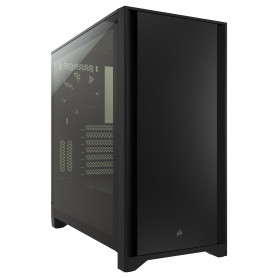 Boitier Corsair iCUE 4000D Tempered Glass Noir ATX USB 3.1 Type C