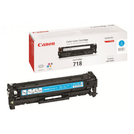 Toner Canon 718 Cyan 2900 pages 7200/7210/7660/7680/MF83** TONERCA718CY - 1