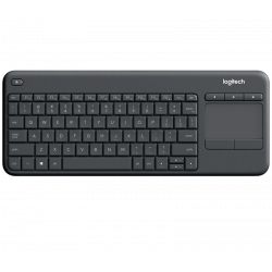 Clavier Logitech Wireless TouchPad Keyboard K400 Plus Noir