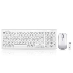 Pack Clavier Souris Perixx PERIDUO-710W Blanc Wireless