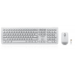 Pack Clavier Souris Perixx PERIDUO-703 Blanc Wireless