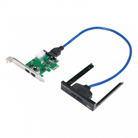 Carte PCI Express LogiLink PC0058 USB 3.0 2 Ports + Rack 3.5 2 Ports