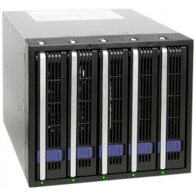 Rack 3 baie 5.25 ICY DOCK MB455SPF-B pour 5x DD 3.5 SATA Hot Swap