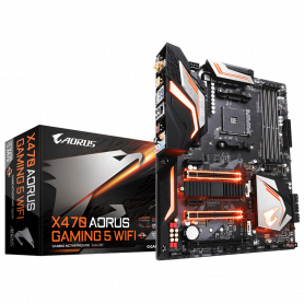 Carte Mère Gigabyte AORUS X470 GAMING 5 WIFI ATX AM4 DDR4 USB3.1 M.2