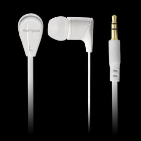 Ecouteurs Intra-Auriculaires Campus Groovy White MIC-E215WT Blanc