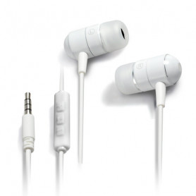 Ecouteurs Intra-Auriculaires Campus Rythmic MIC-IP709WT Blanc