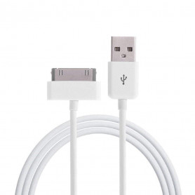 Câble Campus CB-CH-IP-W ChargeSync USB vers iPhone 3/4 iPad 1/2/3