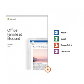 Microsoft Office 2019 Famille & Etudiant 1 PC Windows/Mac