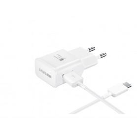 Chargeur Samsung Fast Charger 15W + Câble USB Type C 1m Blanc