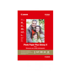 20 x Canon Photo Paper Plus Glossy II PP-201 130x180mm 260g/m2