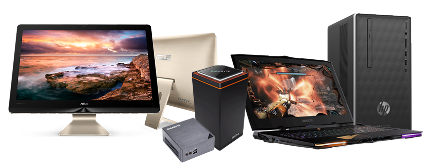 Ordinateurs - PC Fixe - UC - Barebone - Mini UC - All in One